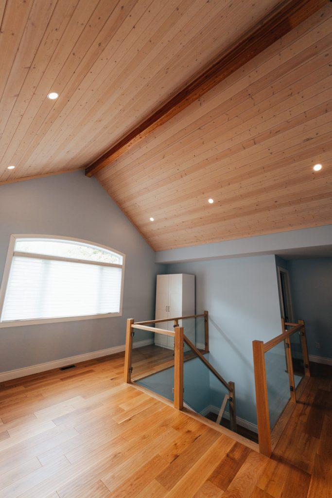 post and beam cottage loft